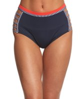 Tommy Hilfiger Strappy Stripes High Waist Bikini Bottom