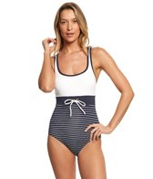 Tommy Hilfiger New England Scoop Neck One Piece Swimsuit