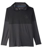 Volcom Men's Distortion Block Hooded Long Sleeve Surf Shirt