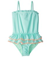 Hula Star Girls' Sailor Stripe One Piece Swimsuit (2T-6X)