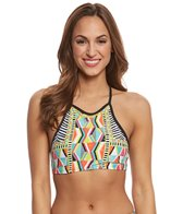 Trina Turk Women's Geo Engineer Sports Bra Top