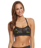 Trina Turk Women's Lace & Shine Sports Bra Top