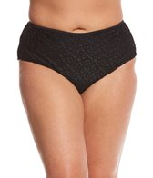 Paramour Plus Size Mykonos Solid High Waisted Bikini Bottom