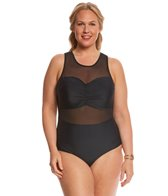 Paramour Plus Size Mesh One Piece Swimsuit