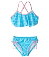 Platypus Australia Girls' Tribal Flounce Bikini Set (6-14)