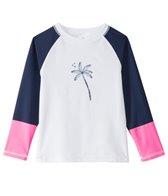 Snapper Rock Girls' Midnight Palm L/S Colorblock Rashguard (6-16)