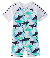 Snapper Rock Boys' Shark S/S One Piece Sunsuit (0-24mos)