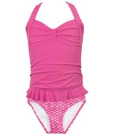 Fin Fun Waverlee's Malibu Pink Mermaid Clamshell Tankini Set (4T-12)