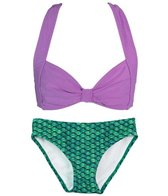 Fin Fun Brynn's Celtic Green Mermaid Clamshell Bikini Set (4T-12)