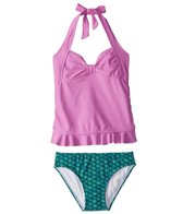 Fin Fun Brynn's Celtic Green Mermaid Clamshell Tankini Set (4T-12)