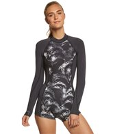 Billabong Women's 2mm Palm Print Surf Capsule Spring Fever Back Zip Long Sleeve Springsuit Wetsuit
