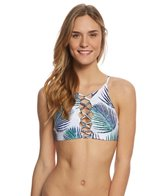 Stone Fox Swim Petrogleaf Iver Crop Bikini Top