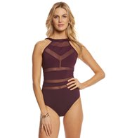 Aerin Rose Sangria Atlas One Piece Swimsuit