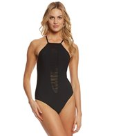 Red Carter Splice & Dice Strappy Plunge One Piece Swimsuit