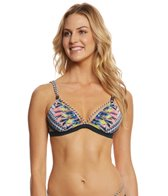 Red Carter Feather Warrior French Triangle Bikini Top