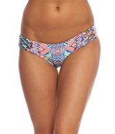 Red Carter Beauty & The Beach Reversible Side Tie Hipster Bikini Bottom