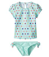 Roxy Kids Girls' Rainbow S/S Lycra Rashguard Set (3T-6)