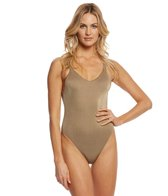 Vitamin A Bronze Metallic Leah One Piece Swimsuit