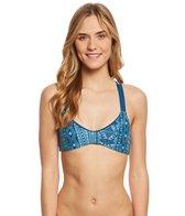 B.Swim Luna Stripe Oasis Reversible Bralette Bikini Top