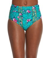 Betsey Johnson In Bloom High Waist Bikini Bottom