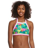 Betsey Johnson Betsey's Tropical Escape Halter Bikini Top