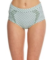 Betsey Johnson Duo Dot High Waist Bikini Bottom
