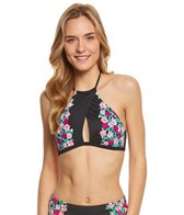 Betsey Johnson Ballerina Rose Halter Bikini Top