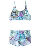 Tidepools Girls' Topsy Turvy Surf 2 Piece Bikini Set (2-14)
