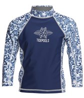 Tidepools Girls' Pineapple Long Sleeve UV 50+ Rashguard (2-14)