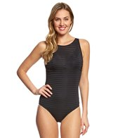 JETS by Jessika Allen Parallels High Neck Underwire One Piece Swimsuit (DD/E Cup)