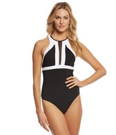 JETS by Jessika Allen Classique High Neck One Piece Swimsuit
