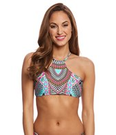 Laundry By Shelli Segal Tribal Goddess High Neck Bikini Top