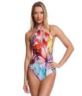 Gottex Spring Embrace High Neck One Piece Swimsuit