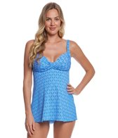 Prego Swimwear Maternity Daisy Dot Twist Baby Doll Tankini Two Piece Set