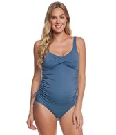 Prego Swimwear Maternity Dot Twist Tankini Set