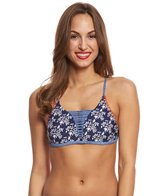 Jessica Simpson Swimwear Vine About It Strap Front Triangle Bikini Top