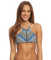 Jessica Simpson Swimwear Versailles High Neck Bikini Top