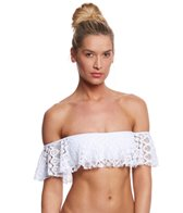Kenneth Cole Rainbow Connection Off Shoulder Bandeau Bikini Top