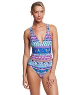 Kenneth Cole Reaction Bohemian Spirit Halter One Piece Swimsuit