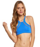 Maaji Swimwear Bluescreen Surfer Reversible High Neck Bikini Top
