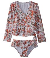 Seafolly Toddler Girl's Wild Poppy Ballet Long Sleeve Rashie Set (2-7)