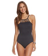 Seafolly Solid High Neck One Piece Swimsuit (DD-Cup)