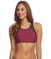Sporti Active Chevron High Neck Crop Bikini Top