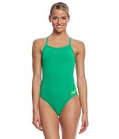 MP Michael Phelps Women's Solid Mid Back One Piece Swimsuit