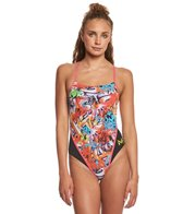 MP Michael Phelps Women's Laci Racer Back One Piece Swimsuit