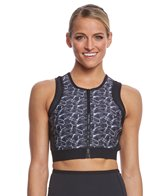 Delfin Spa Heat Maximizing Printed Crop Top