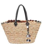Sun N Sand Natural Straw Magnetic Snap Shoulder Tote Bag II