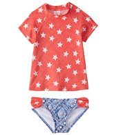 Billabong Girl's Starlight Short Sleeve Rashguard Set (4-14)