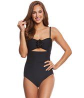 Kate Spade New York 3D Rose Peep Hole One Piece Swimsuit