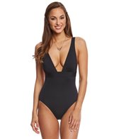 Vince Camuto Draped Solid Architectural One Piece Swimsuit